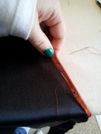 Hemming the neckline