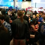 The crowd at the Nintendo booth!